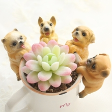 Bonsai Ornaments Pets Paradise Hanging Puppy Kawaii Zakka Small Cute Dogs Pendant Figurines Fairy Garden Decoration