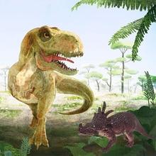купить Mini Dinosaur Toy Jurassic Simulated Solid Model Set Dinosaur Toys Tyrannosaurus pterosaur Tricerosaur Best Gift for Boys дешево