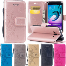 For (samsung galax j3 2016 J310F) fundas Embossing PU leather Phone bags for Coque samsung j310 j320 J3 6 Cover flip wallet case(China)