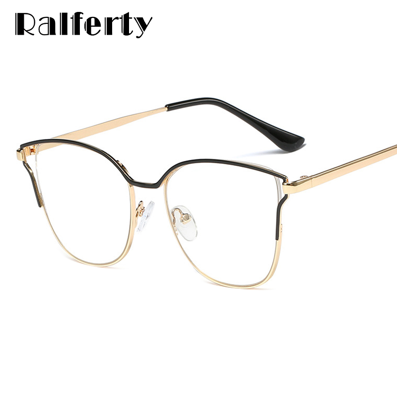 Ralferty Eye Glasses Frame Women Eyeglasses Optical Myopia Glasses Cat Eye Spectacle Clear Transparent Oculos De Grau F95538