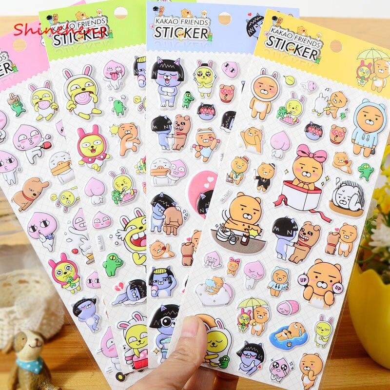 SHINEHENG New Arrival DIY Ryan 3D Pop Up Stickers Apeach Muzi Neo Con Frodo Jay z