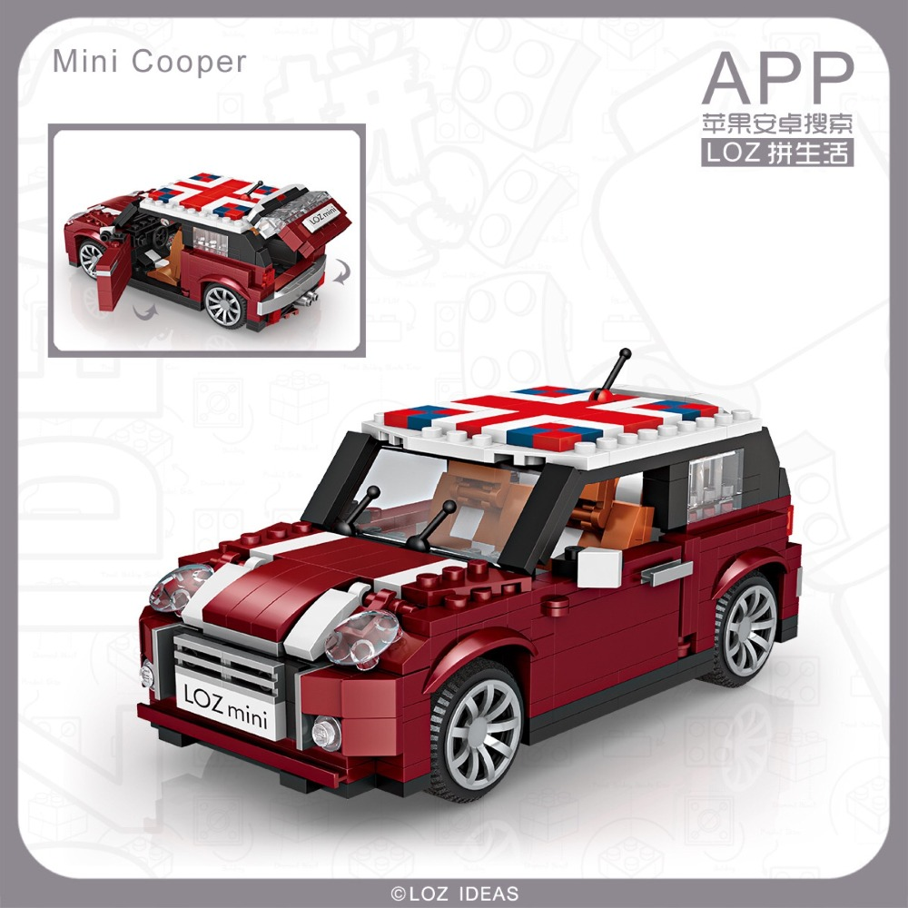 LOZ 1111 Mini Cooper Car Model 1:24 Magic Diamond 4P2Pcs Building Block Bricks Toys Gifts For Children