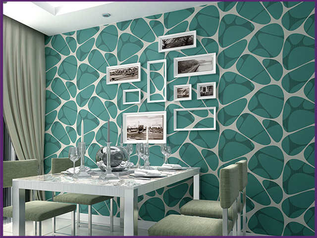 Living environment non woven wallpaper modern simple pearl inlaid ...