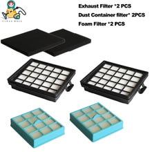6 cái/gói HEPA bộ lọc cho máy hút bụi Philips bộ phận FC8140 FC8142 FC8146 FC8147 FC8148 sạch hơn phụ kiện