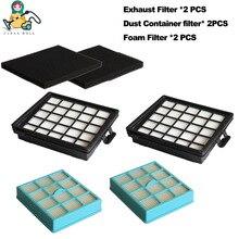 6 parça/paket hepa filtreleri elektrikli süpürge için Philips parçaları FC8140 FC8142 FC8146 FC8147 FC8148 temizleyici aksesuarları