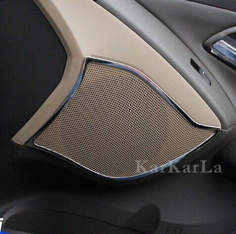 4pcs Car stainless steel interior door speaker cover overlay for Hyundai IX35 auto accessories