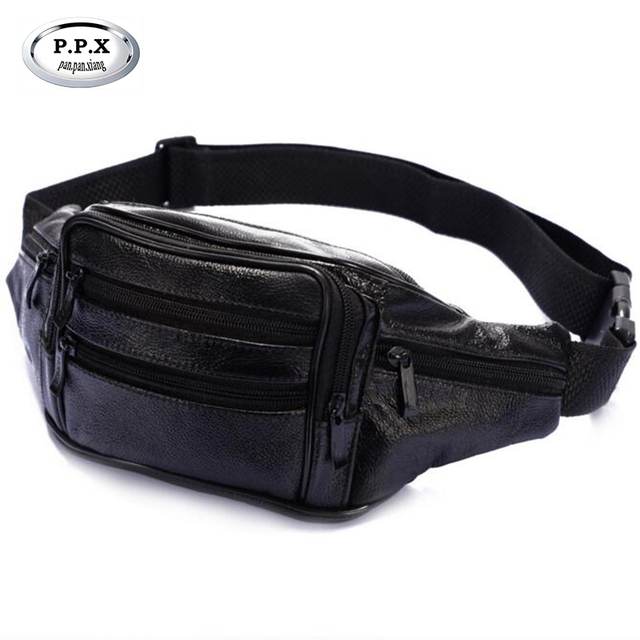 40228e04b New PU Leather Male Waist Packs Fanny Pack Belt Bag Phone Pouch Bags Travel  Waist Pack Male Small Waist Bag Leather Pouch A687