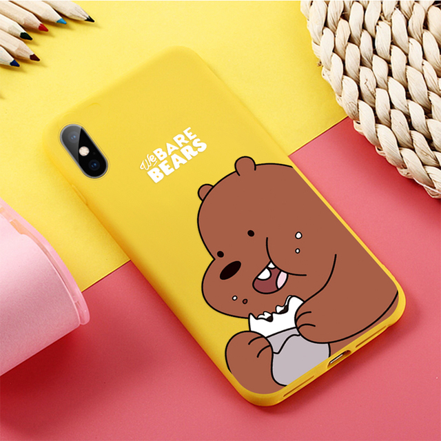 New Cartoon Case for iPhone Bare Bears funny