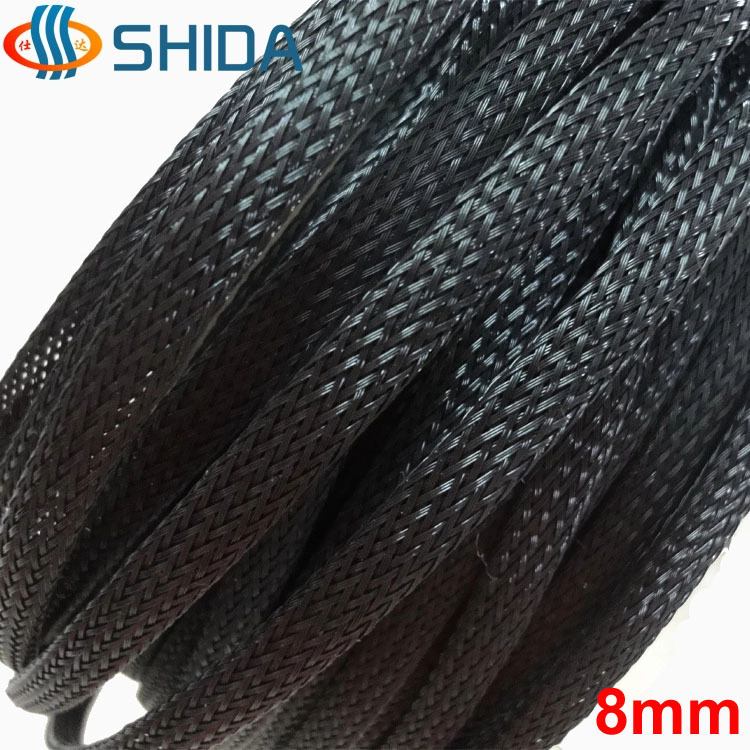 8 mm 500 Meter Black High Density PET Insulation Expandable Braided Sleeving Cable Harness Sheathing Expanding Sleeve-in Cable Sleeves from Home Improvement    1