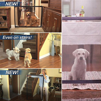2018 Mesh Magic Pet Dog Gate Safe Guard Fences Folding Install Indoor Outdoor Anywhere Pet Safety Enclosure for Dogs Cat Pet