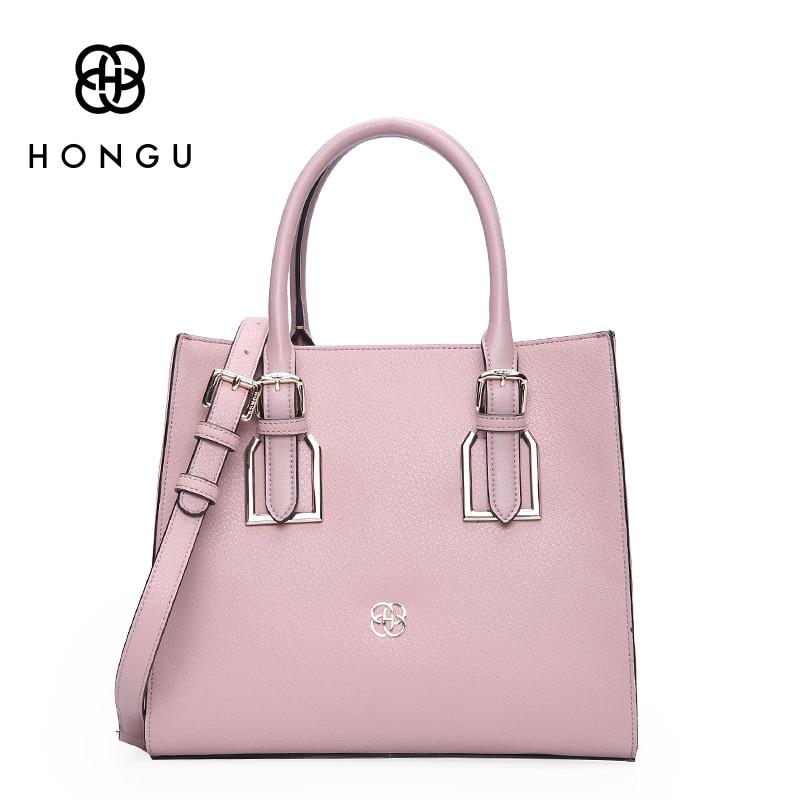 Hongu Genuine Leather Classical Tote Luxury Handbags Women Bag Designer Women Famous Brand Lady Shoulder Louis Bags Bolsos mujer