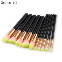 15pcs Wooden Face Makeup Brushes Set Powder Foundation Eyeshadow Concealer Eyeliner Contour Blush Blending Brushes Beauty