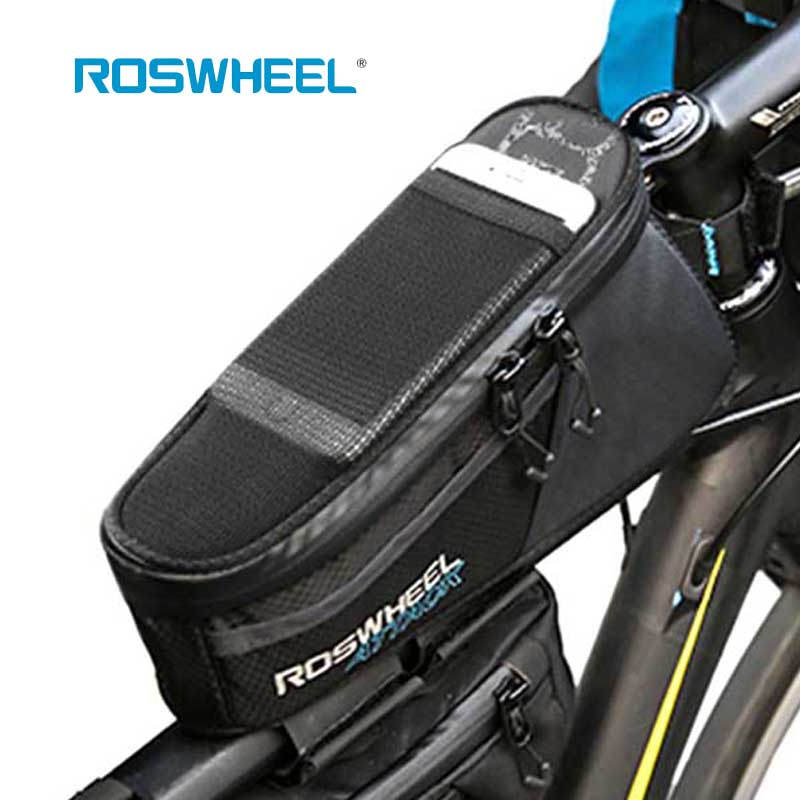 ROSWHEEL ATTACK 1.5L High capacity Pouch  Cycling Bags Rainproof Bag Bike Mobile Phone Bag Bicycle Front Frame Top Tube Bag wheel up bicycle rear seat trunk bag full waterproof big capacity 27l mtb road bike rear bag tail seat panniers cycling touring