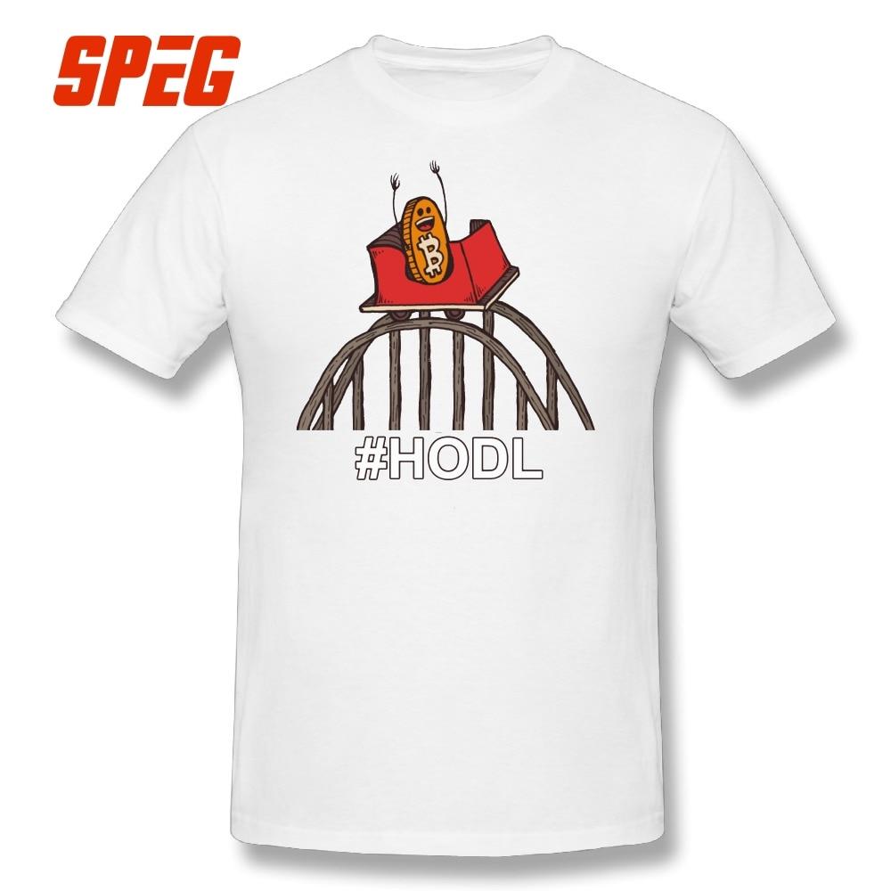 Camiseta Bitcoin Rollercoaster a la luna reemplazo Camisetas cuello redondo manga corta Camiseta Tops 100% algodón