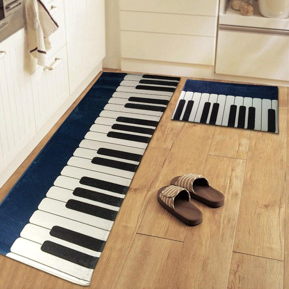 Kitchen floor mats designer - Yazi Chic Piano Design Kitchen Floor Mat Rug Plush Non Skid Bedroom Bathroom Water Absorbent Entrance