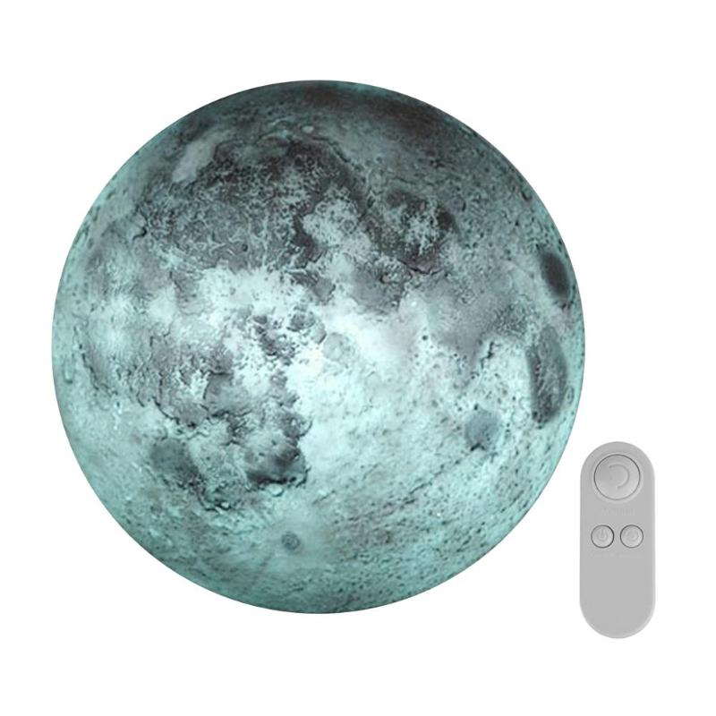 Amazing LED Healing Moon Night Light Lamp with Remote Controller Decoration Indoor Led Wall Light Mini Moon Lamp 25 x 25 x 7cm