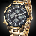 Military Watches Men Luxury Brand Full Steel Watch Sports Quartz Multi-function LED Waterpoof Gold Wristwatch Relogio Masculino