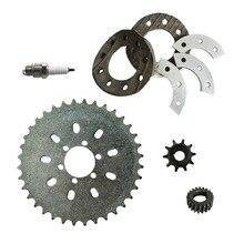 36 зубы 6 отверстий звездочки и звездочки комплект для монтажа 66cc 80cc Двигатели для автомобиля моторизованный велосипед