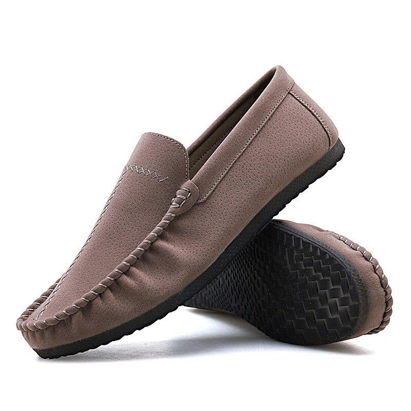 Chaussures Gommino brown khaki Pour Printemps Mocassin Casual Mâle Lingge Sur Hommes Slip Paresseux grey Black De Penny Mocassins red Conduite aqwnC8S7x