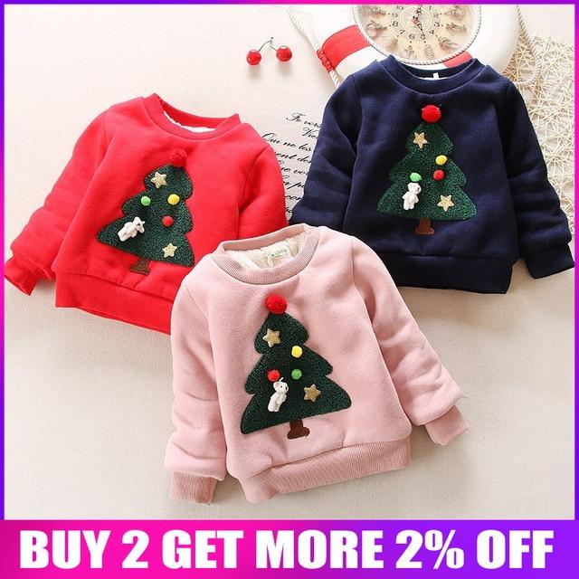 Warme Kersttrui.Bibicola Winter Baby Meisjes Kerst Trui Peuter Trui Tops Baby Winter