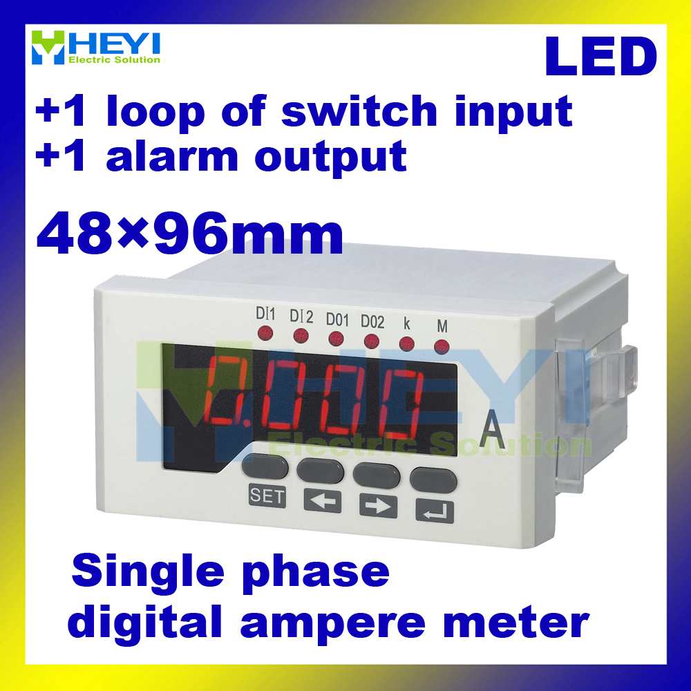 Led Single Phase Digital Current Meter Hy-aa51 48*96mm Ac Amp Meter Class 0.5 With 1 Loop Of Switch Input Back To Search Resultstools 1 Alarm Output Strengthening Waist And Sinews