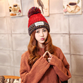 Forwell 2016 New Fashion Woman's Warm Winter Hats Knitted Fur Ball Cap For Woman Colorful Woolen 6 Color