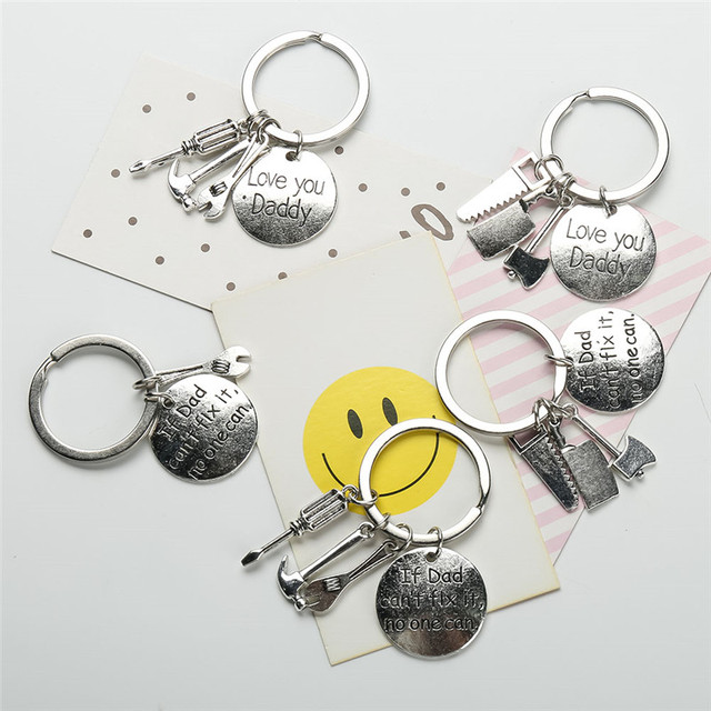 Father's Day If Dad Can't Fix It No One Can Hand Tools Keychain