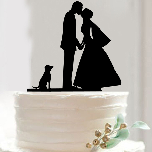 FREE SHIPPING Bride And Groom Cake Topper Acrylic Silhouette Wedding
