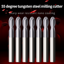 Cnc Tools Endmill Sprial Bit Cutting HRC55 2 Flute Tungsten Steel Milling Cutter Ball Nose End Mill Carbide Milling Tools Metal 5pcs 2f 2 0rx8cx50x4f spiral bit milling tools carbide ball nose end mill the lathe tool boring bar cnc machine