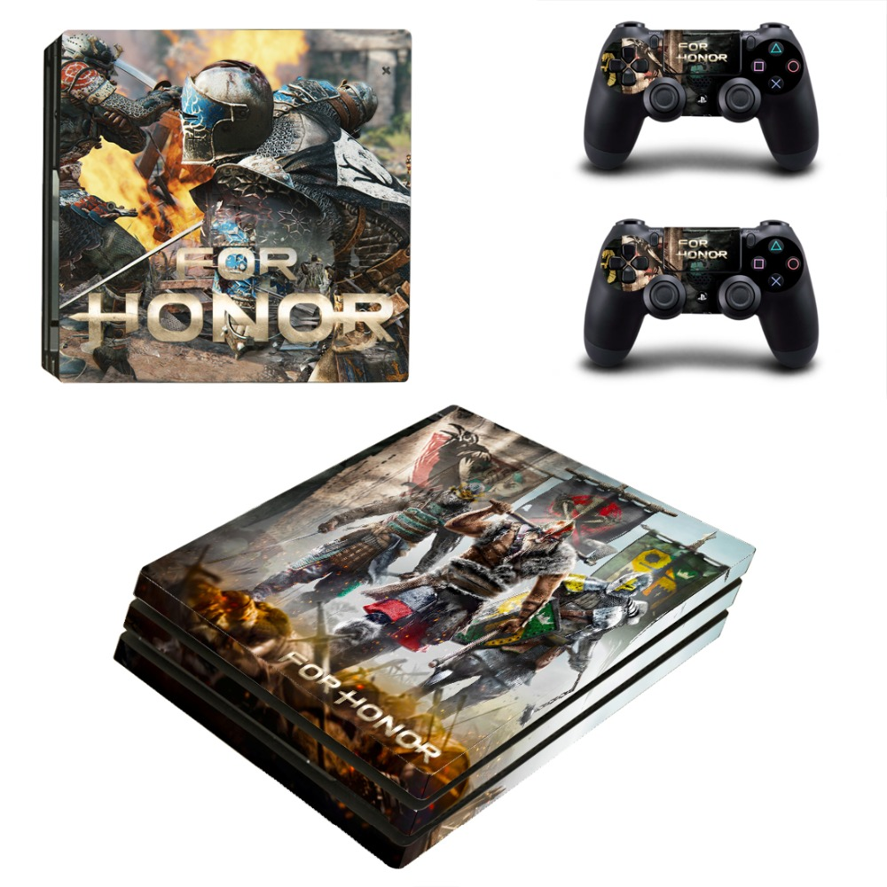 Game for Honor PS4 Pro Skin Sticker Decal Vinyl for Playstation 4 Console and 2 Controllers PS4 Pro Skin Sticker