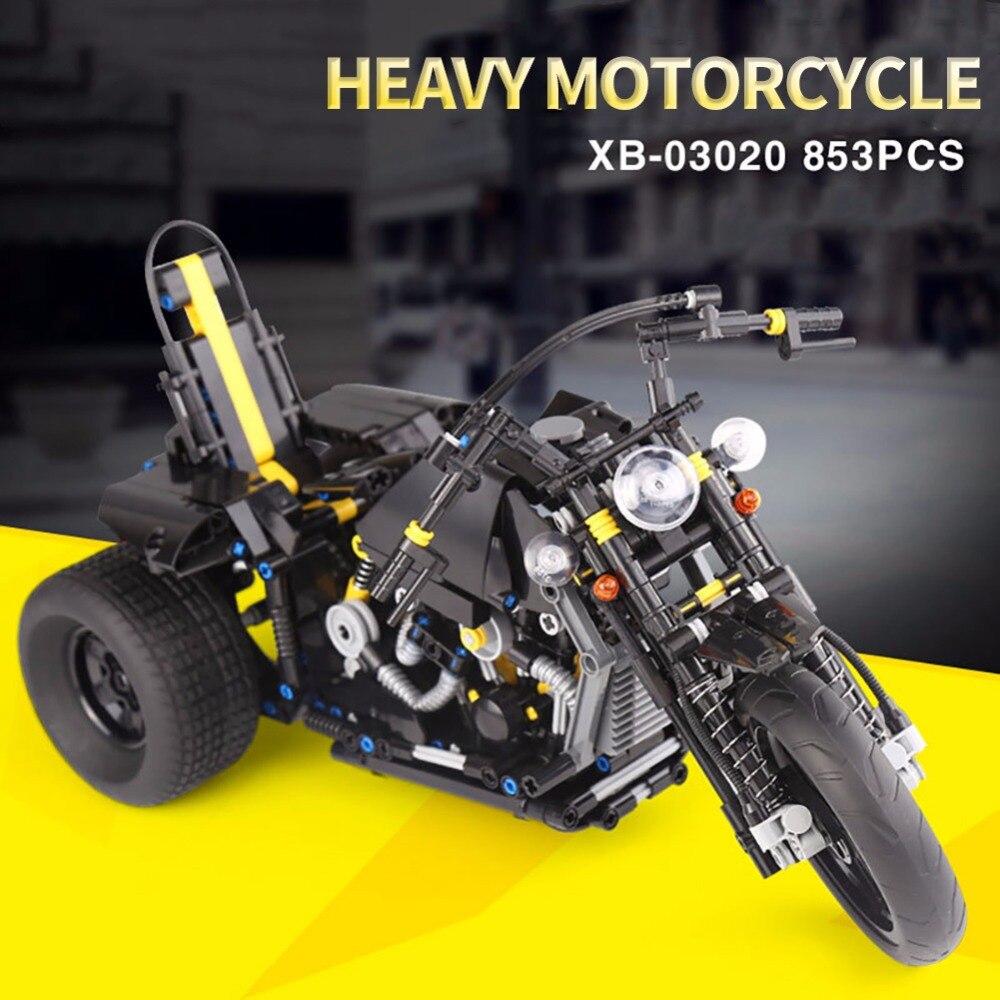 XINGBAO 03020 テクニック車シリーズ Exploiture 重いオートバイのビルディングブロックセットのおもちゃ子供の互換 Legoes 45  グループ上の おもちゃ & ホビー からの ブロック の中 1