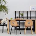 modern dining table with 1.6 meter European white oak assemble scandinavian furniture wood design by LaSelva Creative Studio