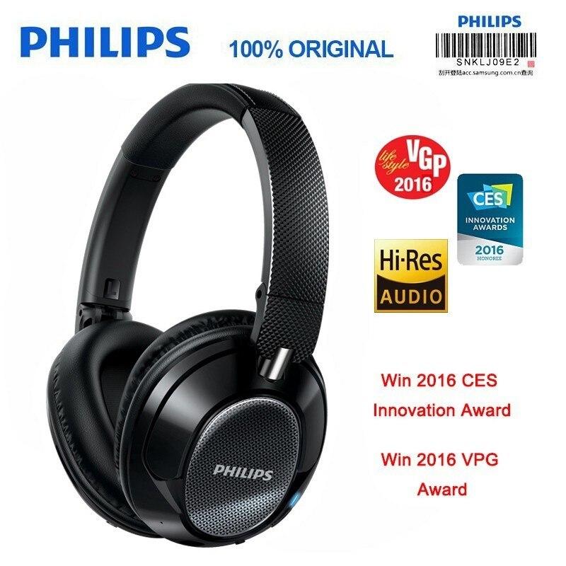 Originale Philips SHB9850 Wireless Cuffie Bluetooth Attivo Cancellazione del Rumore con Microfono Auricolare NFC Verifica Ufficiale