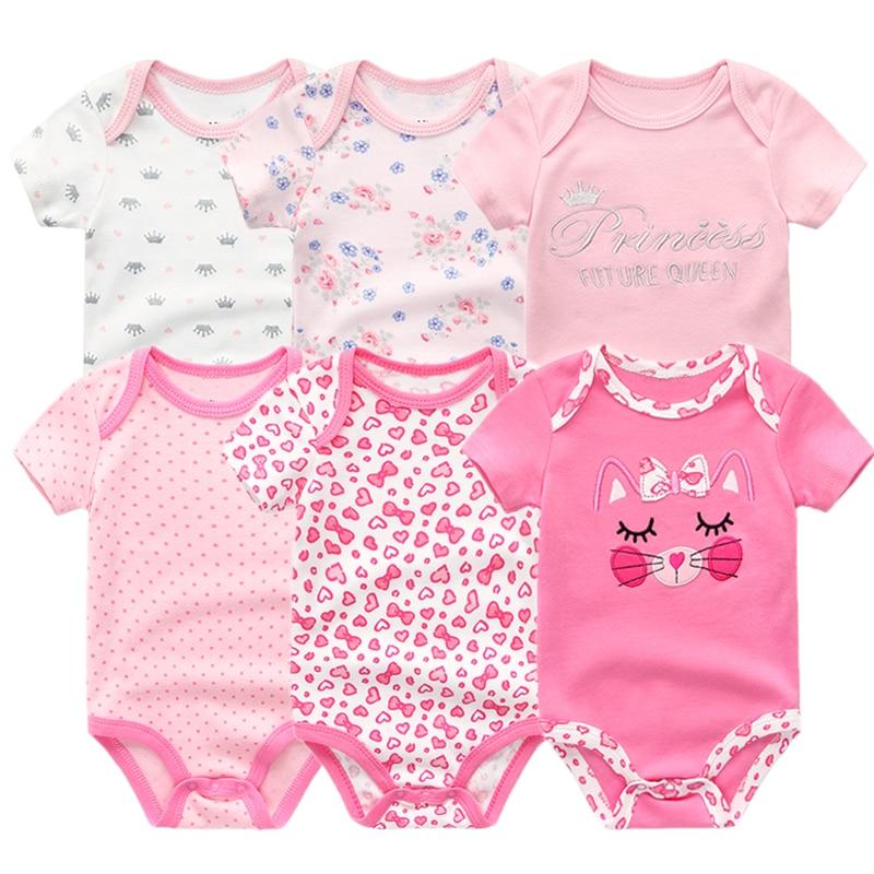 HTB1f6XRoFooBKNjSZPhq6A2CXXa3 2019 6PCS/Lot Unisex Unicorn Baby Boy Clothes Cotton Kids Clothes Newborn Rompers 0-12M Baby Girl Clothes Roupa de bebe