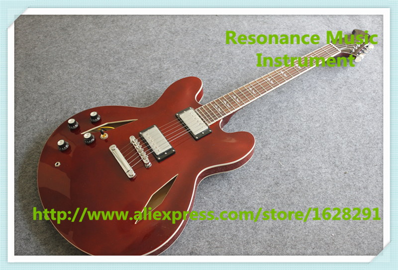 China Custom Shop Dave Grohl DG ES Left Handed Electric Guitars Same As Picture high quality flag custom finish left handed es electric guitars china hollow body