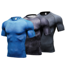 US lokalna dostawa 3 sztuk sportowa koszula mężczyźni szybkie suche obcisłe koszulki męska odzież sportowa koszulki piłkarskie elastyczność męskie koszulki do biegania tanie tanio GEJINIDI Poliester summer AUTUMN Pasuje prawda na wymiar weź swój normalny rozmiar active yoga training 3pc4023 2017