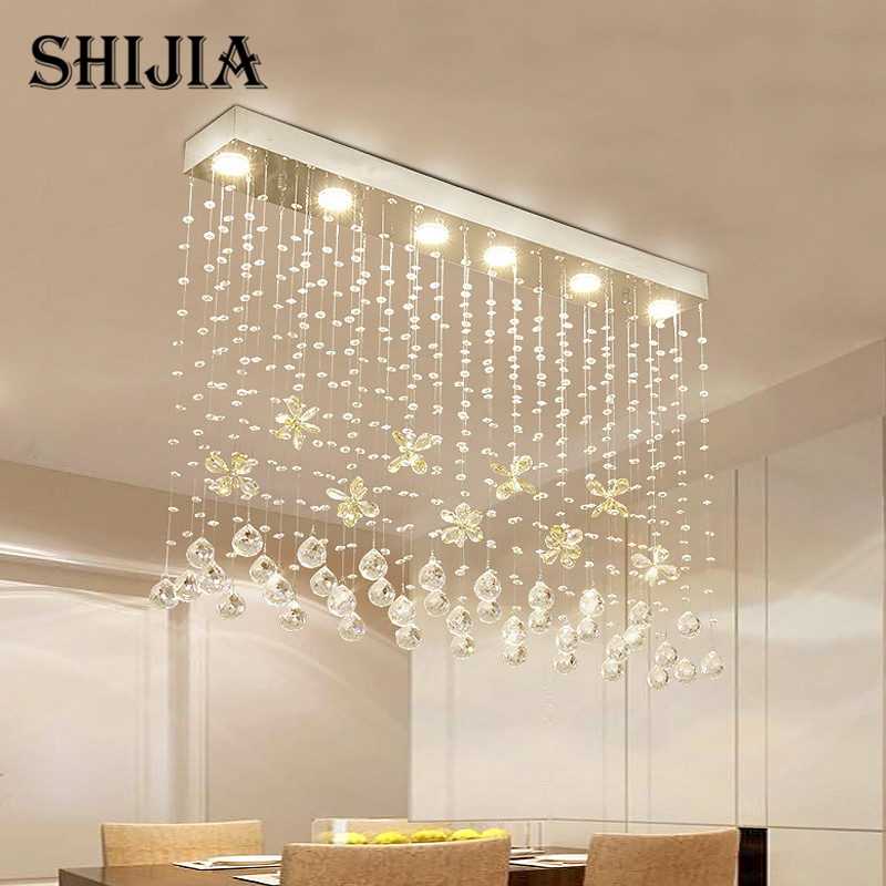 Contemporary LED Luster Crystal Chandelier Interior Curtain Wave - Wrought iron bathroom light fixtures