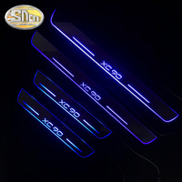 SNCN 4PCS Acrylic Moving LED Welcome Pedal Car Scuff Plate Pedal Door Sill Pathway Light For Volvo XC90 2007 2018