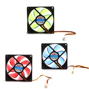 Image 3 - 90ミリメートルledライト3pin pcのデスクトップコンピュータケース冷却クーラーファン低ノイズ9025グリーン/レッド/ブルー