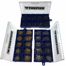 1500Pcs/Lot(3 Boxes) Black Silver Bronze #3~#12 Fishing Hooks Carbon Steel Winter Ice Fish Hooks Panfish Bass Fishhook With Box