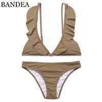 BANDEA Brand Bikini 2018 Swimwear Women Bandage Swimsuit Ruffled Bikinis Set Falbala Swimsuit For Women Beach