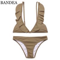 BANDEA Brand Bikini 2018 Swimwear Women Bandage Swimsuit Ruffled Bikinis Set Falbala Swimsuit For Women Beach