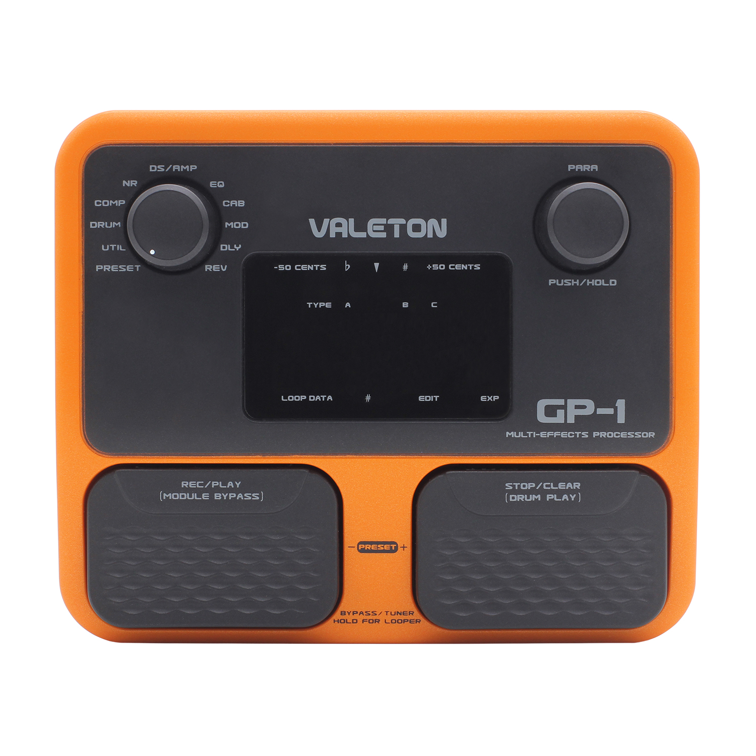Valeton GP-1 Multi Effects Processor Guitar Effect Pedal 100 Effects, Run 8 Effects Simultaneously