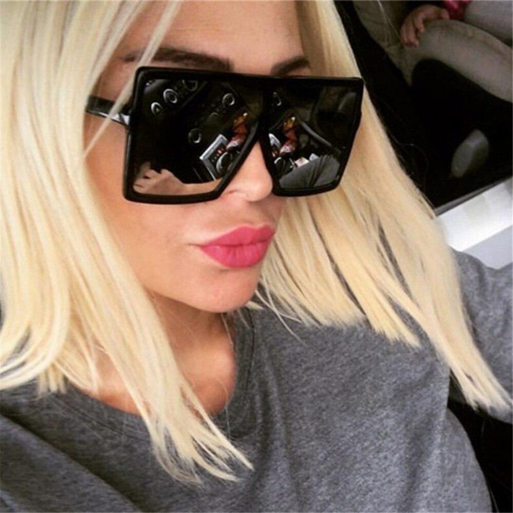 2019 NEW Fashion square big box sunglasses women  brand designer Retro glasses trend colorful
