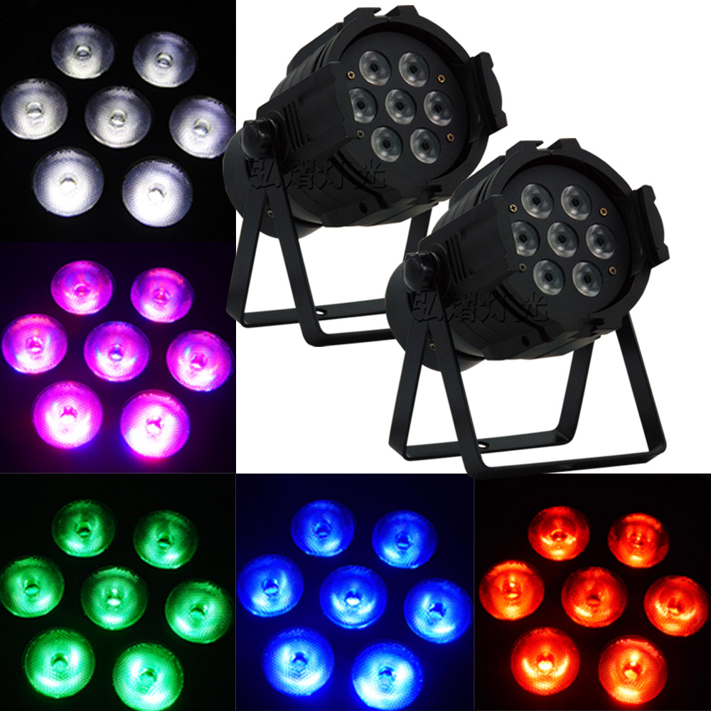 2016 2psc Led Par Light 7x12W 4in1 RGBW LED Par Can Disco Lamp Stage Lights Luces Discoteca wash de Projector 6units 24x12w rgbw 4in1 aluminum led par can disco lamp stage lights luces discoteca laser beam luz de projector led par light