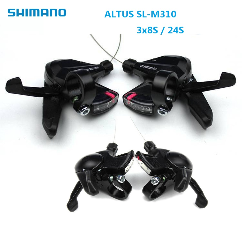 Bicycle Derailleur Shift Lever Shimano A ltus SL M310 3S x 8S 24 Speed Thumb Shifter MTB Mountain Bike Accessories shimano x t r sl m9000 thumb shifter left & right mtb mountain bike derailleurs 11s 22s 33s speed bicycle transmission