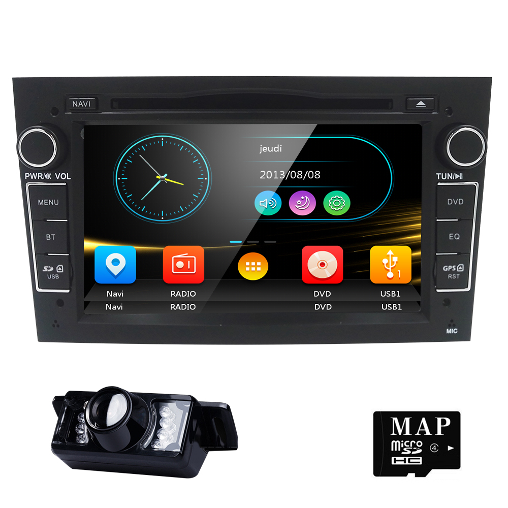 2 din Car DVD Stereo for Vauxhall Opel Astra H G Vectra Antara Zafira Corsa DVD GPS Navi Radio 2 color steering wheel RDS TV CAM