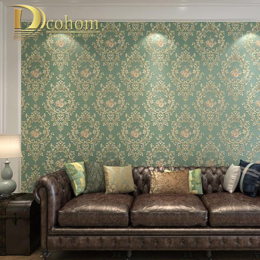 European Vintage Flower Wallpaper For Walls 3D Floral Designs Non Woven Wall paper Rolls For Bedroom Living room Background