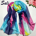 Chiffon Scarf Scarves Women Fashion Chinese Ink Style Wrap Lady Shawl New Trendy Bohemian Women's Long Print  Birthday Gift