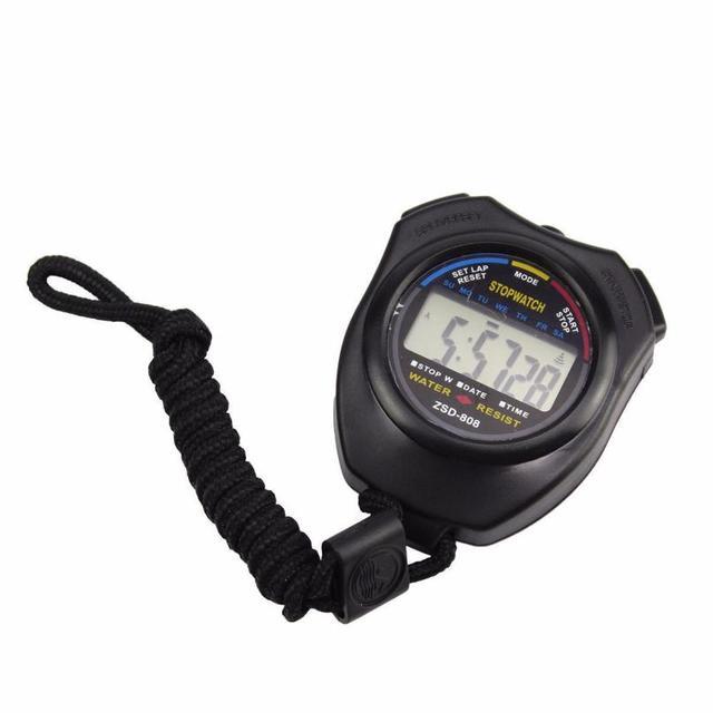 1 pz Impermeabile A CRISTALLI LIQUIDI Digital Cronometro Cronografo Timer Contatore Sport Digital Alarm Timer Sport per Dropshipping o all'ingrosso